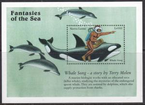 Sierra Leone, Fantasies of The Sea, Whale Song, Killer Whale  / MNH / 1996
