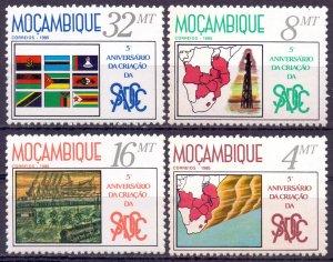 Mozambique. 1985. 1016-19. Development Coordination Conference. MNH.