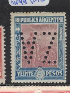 Argentina SC 204 Perfin ZA MNH (7dvs)
