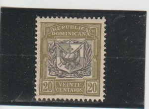 Dominican Republic  Scott#  183  MH  (1911 Coat of Arms)