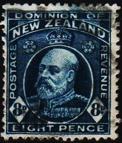 New Zealand. 1909 8d S.G.393  Fine Used