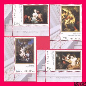 MOLDOVA 2019 Art Paintings Nudes from National Museum 4v Mi1123-1126 MNH
