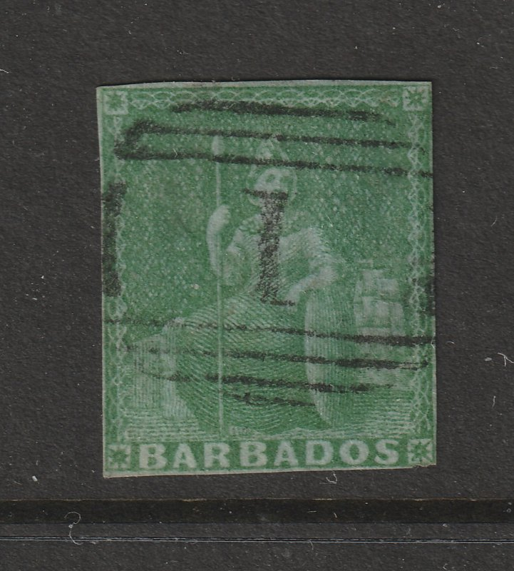 Barbados a used old 0.5d could be sg 2