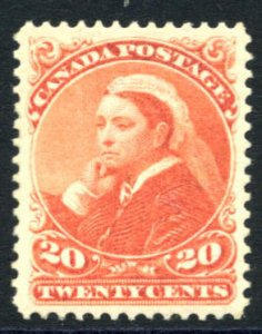 CANADA: Sc.#46  **  20¢ Vermilion, STUNNING example, Extremely Fine, Never H...