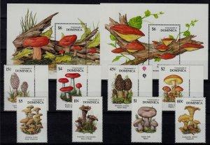 Dominica 1318-27 MNH Mushrooms SCV21.75