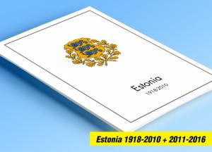 COLOR PRINTED ESTONIA 1918-2010 + 2011-2016 STAMP ALBUM PAGES (96 illust. pages)
