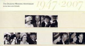 2007 Sg 2780/2785 The Diamant Mariage Anniversaire Pack Présentation N°403