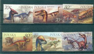 Poland - Sc# 3503-8. 2000 Dinosaurs. MNH $3.90.