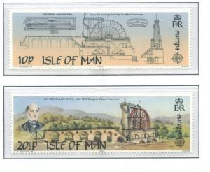 Isle Of Man MNH 244-5 Europa Laxey Wheel 1983