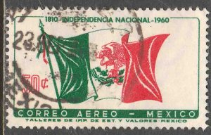 MEXICO C250, 50¢ Sesquicentennial Mexican Independence. Used F-VF (1128)