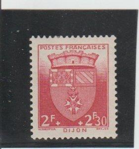 France  Scott#  B141  MH  (1942 Arms of Dijon)