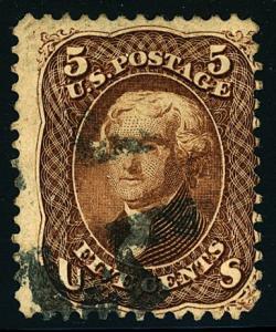 U.S. #76 Used Fancy Cancel