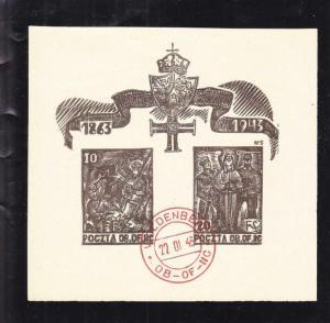 WW2: Polish POW Stamps, Woldenberg, Fisher Cat. # Block 3 (27597)