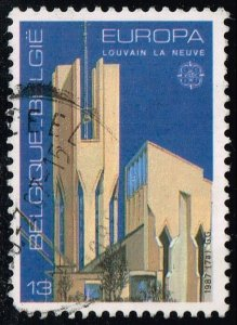 Belgium #1268 Louvain-la-Neuve Church; Used (0.25)