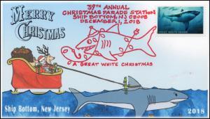18-342, 2018, Great White Christmas, Pictorial Postmark, Event Cover,Ship Bottom
