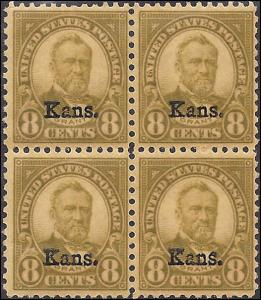 666 Mint,OG,NH... Block of 4... SCV $580.00