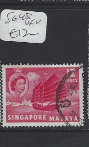 SINGAPORE (PP0502B)  QEII 12C  BOAT  SG 45   VFU