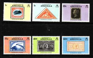 Anguilla-Sc#349-54-unused NH set-stamp on stamp-Rowland Hill-1979-