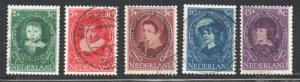 Netherlands Sc B286-90 1955 Child Welfare stamp set used