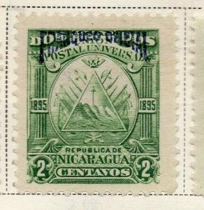 Nicaragua 1895 Early Issue Fine Mint Hinged 2c. Official Optd 323738
