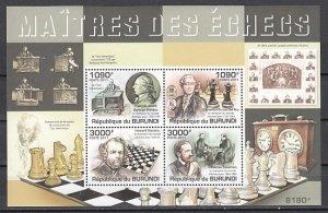 Burundi, 2011 issue. Chess Masters sheet of 4. ^