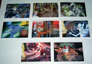 Nicaragua - 2020-7, MNH S/S Set. Space Aliens. SCV - $150.00