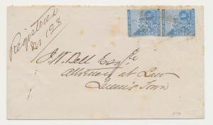 CAPE OF GOOD HOPE 1879, WHITTLES STA OVAL+ TRIANGLE CANCEL, ON REG COVER
