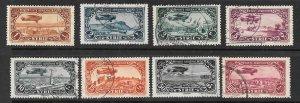 SYRIA Scott #C48-C53, C55-C56 Used Set Bi-plane  air mail stamps 2018 CV $12.70