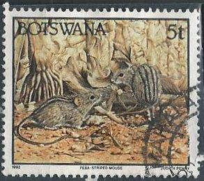 Botswana 521 (used) 5t striped mouse (1992)