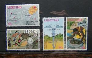 Lesotho 1973 International Kimberlite Conference set MNH