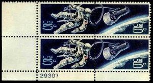 PLATE BLOCKS - #1331-2 5c Space Twins.....VF og NH (x34)