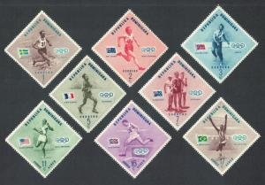 Dominican Rep. Olympic Games Melbourne 8v 1957 MNH SC#479-483+C100-102