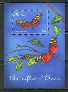 NEVIS BUTTERFLIES OF THE CARIBBEAN SOUVENIR SHEET MINT NH
