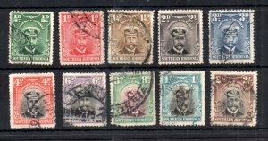 Southern Rhodesia 1924 Admiral used collection to 2/- Cat Val £100 WS20056