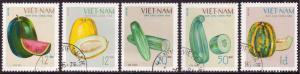 North Vietnam 1970 Fruits Set of 5 SGN617-N621 CTO