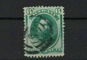 hawaii 1864 6 cent used stamp ref r13074