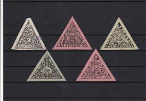Colombia 1901-04 Revenue Stamps Ref 15479