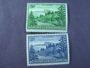 NORFOLK ISLAND # 23-24 -MINT NEVER/HINGED-COMPLETE SET---QEII----1959