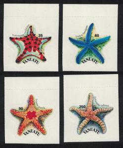 Vanuatu Starfish 4v self-adhesive Top margins SG#928-931