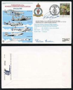 AC23c Formation Bomber Command Association Signed by Lady Harris and T. Bennet