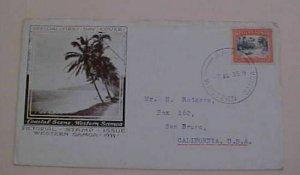 SAMOA FDC 1935  COASTAL SCENE CACHET TO USA