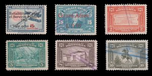 HONDURAS  AIRMAIL STAMP COLLECTION. SCOTT: C113 - C124. USED.