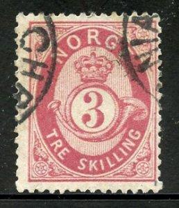 Norway # 18,Used. CV $ 35.00