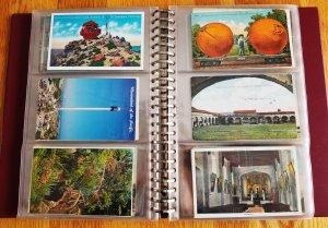 180 Vintage Post Cards in Post Card Binder(HP09)