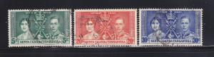 Kenya, Uganda, Tanzania 60-62 Set U King George VI Coronation (A)