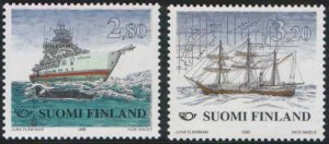 Finland 1998 #1076-7 MNH. Ships, science