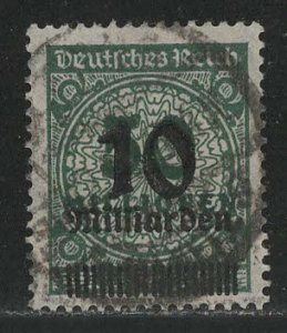 Germany Reich Scott # 315, used, exp h/s