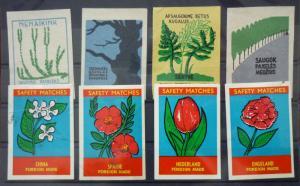 Match Box Labels! flora flower flowers nature china netherlands spain gb uk GJ25