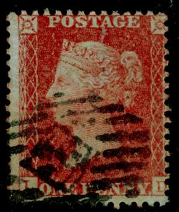 SG29, 1d red-brown, LC14, USED. Cat £22.