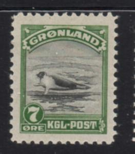 Greenland Sc 12 1945 7 ore seal stamp mint